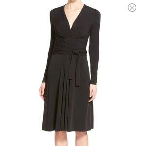 Michael Kors Faux Wrap Midi Dress